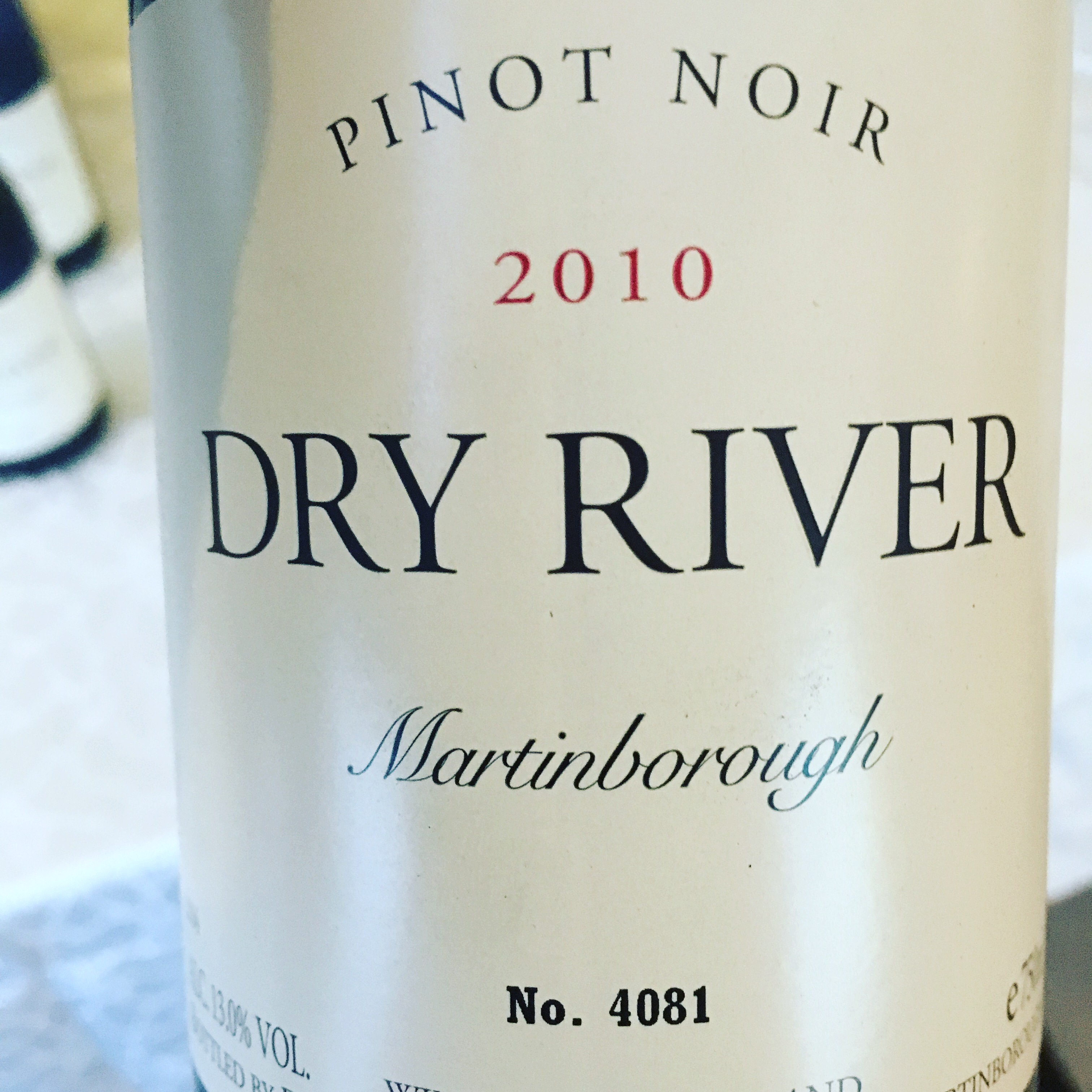 9. Dry River Pinot Noir 2010 (BC 97)