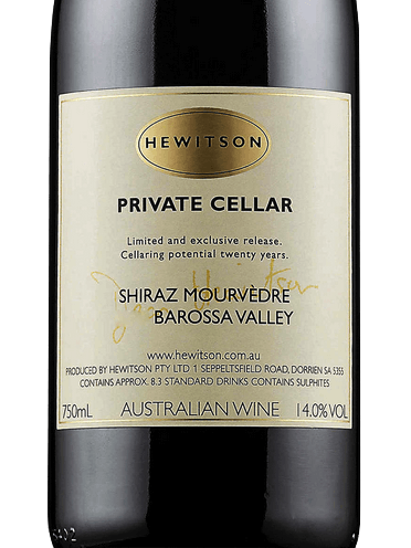 Hewitson Private Cellar Shiraz Mourvedre 2007 1.5L{Mag} JH 96